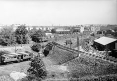 Oslo 1955. Holmenkollbanen ved Majorstuen Foto Robert Charles Wilse