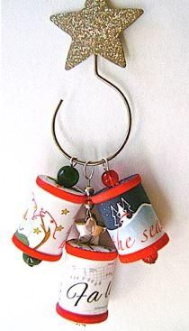 Tiny Thread Spool DIY Ornaments   Make homemade Christmas ornaments that you'll fall in love with.