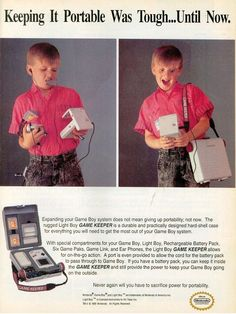 Expanding your Game Boy System does not mean giving up portability; The new Game Keeper is here! Game Boy, Video Vintage, Vintage Video Games, Vintage Games, Vintage Toys, Vintage Photos, Super Nintendo, Wii, Alter Computer