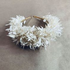 Bleached Preserved Ruscus on a gold headband.  Floral Headpiece, How To Preserve Flowers, Bridal Flowers, Preserves, Engagement Photos, Flower Arrangements, Maternity, Flower Crowns, Wedding