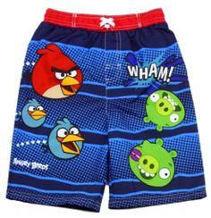 b20e1de609fc5 Boys and toddler Angry Birds trunks. Free Shipping#Swimwear #SwimShorts # SwimTrunks #