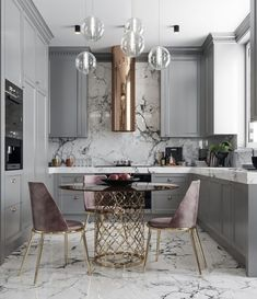 A great look for a small kitchen. Soft a dusty colors. By Nama interior design … A great look for a small kitchen. Soft a dusty colors. By Nama interior design. Home Decor Kitchen, Interior Design Kitchen, New Kitchen, Home Kitchens, Kitchen Dining, Kitchen Ideas, Kitchen Modern, Apartment Kitchen, Kitchen White