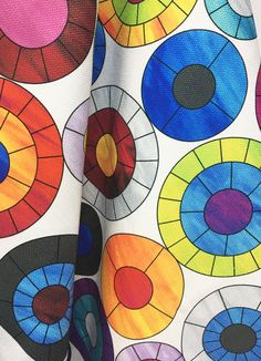 Groovy Halo - Allison Eden Pop Art Fabric Collection for LebaTex Mosaic Art, Mosaic Glass, Mosaic Designs, Printing On Fabric, Halo, Pop Art, Textiles, Kids Rugs, Art Prints