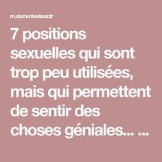 7 positions sexuelles qui sont trop peu utilisées, mais qui permettent de sentir des choses géniales... Et comment les réaliser !