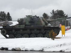 """This picture is a winter picture of my video titled """"1951-1959 Style Military Tank """" that can be viewed at youtube.com/viewwithme ."""