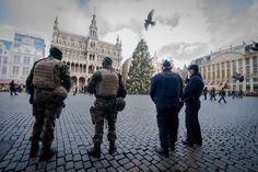 22.11 Bruxelles en alerte maximum face à une menace terroriste.Photo: epa/Stephanie Lecocq