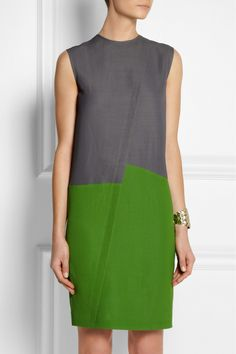 Color-block piqué dress...great lines...could also be a pretty tunic.