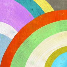 """fun abstract rainbow print from etsy seller """"twoems"""""""