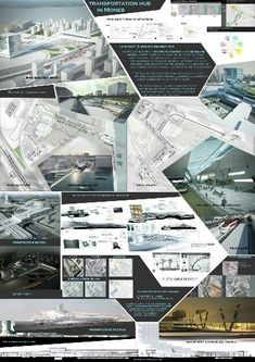 Architecture Graduation Transportation Hub Presentation Board Design Architectural Project