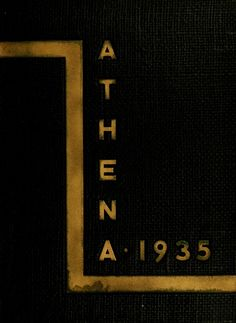 Athena Yearbook, 1935. Click through to see the entire yearbook. :: Ohio University Archives
