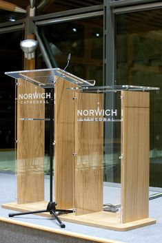 The bespoke acrylic fabrication of Lecterns exclusively for Turning Leaf Furniture Specialised Ltd. #acrylic #lectern #perspex
