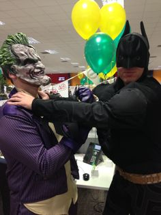Batman vs the Joker at Ageas Insurance Solutions for Bring a Pound Day http://www.dougiemacevents.co.uk/