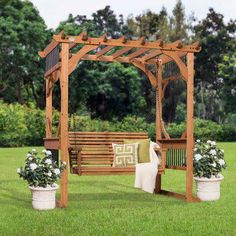 The pergola kits are the easiest and quickest way to build a garden pergola. There are lots of do it yourself pergola kits available to you so that anyone could easily put them together to construct a new structure at their backyard. Diy Pergola, Cedar Pergola, Pergola Canopy, Pergola Swing, Deck With Pergola, Outdoor Pergola, Covered Pergola, Pergola Shade, Pergola Ideas