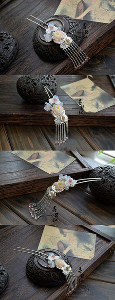 Original handmade tassels Chaitou classical hairpin hair ornaments Han Chinese clothing cheongsam costume accessories cos draw curtain - Tao...