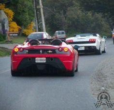 Ferrari 430 Scuderia Spider 16M y Lamborghini Gallardo LP560.4 Spider por Bariloche.