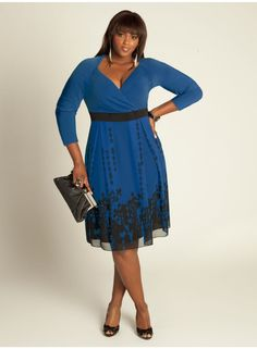 Deco Plus Size Dress in French Blue - Cocktail Dresses by IGIGI