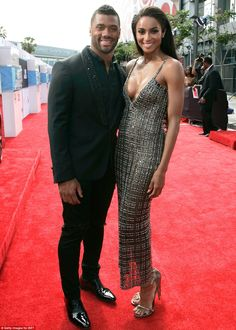 Cute couple: Ciara made her red carpet debut with her beau,Seattle Seahawks quarterback R...