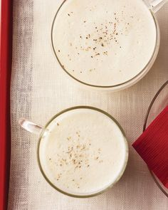 Stir the brandy into this creamy eggnog or supply a bottle next to the serving bowl so guests can spike to taste.