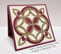 handmade card ... luv this look ... combined die cuts from Lattice die and Window Frames Framlets ... Stampin' Up!