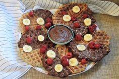 Βάφλες βανίλια και κακάο χωρίς γλουτένη & βίγκαν! – Gfhappy Waffles, French Toast, Food And Drink, Breakfast, Happy, Morning Coffee, Waffle, Ser Feliz, Being Happy