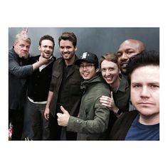 The Walking Dead: Michael Cudlitz, Ross Marquand, Austin Nichols, Steven Yeun, Jordan Woods-Robinson, Kenric Green and Josh McDermitt