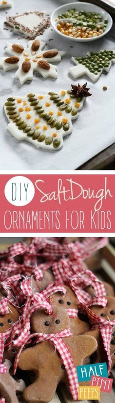 DIY Salt Dough Ornaments for Kids| Christmas, Christmas Ornaments, DIY Christmas Ornaments, Salt Dough Christmas Ornaments, DIY Christmas, Christmas Crafts, Crafts for Kids #DIYChristmas #Christmas #CraftsforKids
