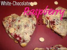 White Chocolate Rasberry Scones