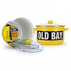 Golden Rabbit Enamelware Old Bay 18qt Stock Pot