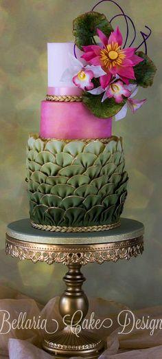 Enchanted Pink Lotus Cake