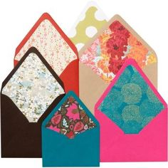 Even the basic envelope has a desire to feel pretty! Create decorative envelope liners with virtually any kind of paper--elegant, colorful, wacky, or patterned, the possibilities are endless. Great fo