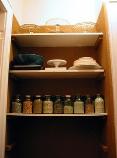 Pantry Organization: Put Your Grains In Jars