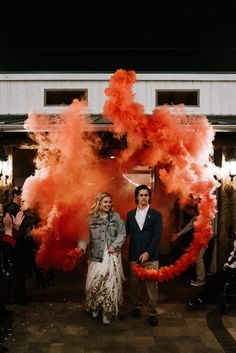 Because we're always suckers for smoke bombs at weddings Wedding Exits, Wedding Night, Wedding Bride, Wedding Images, Wedding Styles, Wedding Photography Inspiration, Wedding Inspiration, Pre Wedding Photoshoot, Wedding Poses
