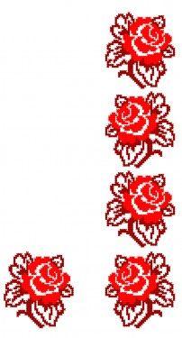 Simple Cross Stitch, Cross Stitch Borders, Cross Stitch Flowers, Cross Stitch Designs, Cross Stitch Patterns, Beaded Embroidery, Cross Stitch Embroidery, Hand Embroidery, Machine Embroidery