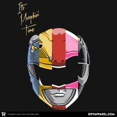 Power Rangers T-Shirt by Robert Retiano aka comicgeek82. Daft Rangers is a Daft Punk parody t-shirt for fans of the Mighty Morphin Power Rangers.