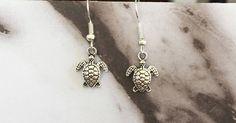 Sea Turtle Earrings  //  925 Sterling Silver Ear Wires  //  Petite Charm  //  Silver