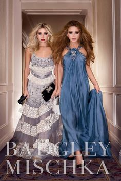 Ashley and Mary-Kate Olsen star in Badgley Mischka's spring 2006 campaign. [Courtesy Photo]