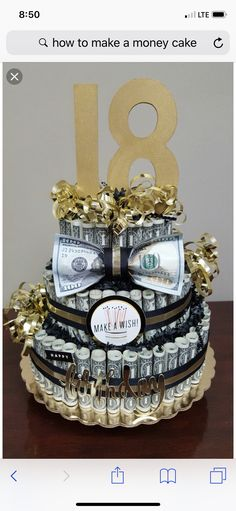Inspired Photo of Money Birthday Cake Money Birthday Cake Fin Ish Me Cupcakes The Wealthy Money Cake. Money Birthday Cake Us Dollar Money Cake For Lloyds Birthday Jocakes. Money Birthday Cake 12 Made Out Of 100 Bill Money Cakes Photo Money Birthday Cake, Money Cake, Diy Birthday, 31st Birthday, Boys 18th Birthday Cake, Diy 18th Birthday Gifts, 18th Birthday Party Ideas For Girls, Birthday Souvenir, Creative Birthday Gifts