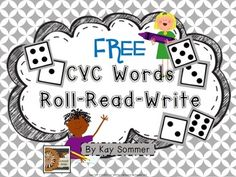 CVC Words - Roll Read Write {FREE}