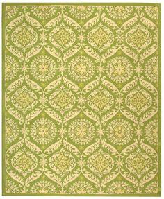 RugStudio presents Safavieh Chelsea HK356B Green / Beige Hand-Hooked Area Rug  1'8 x 2'6  $29  powder room