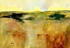 Summer haze x 8 inches 2012 Landscape Artwork, Watercolor Landscape, Abstract Landscape, Watercolor Art, Abstract Nature, Abstract Art, Madrid, English Artists, Office Art