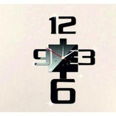 Moderné nalepovacie hodiny velké čísla  , zrkadlové .