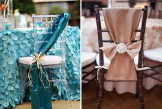 MODELO DE MUJER - DECO -Sillas de boda decoradas con telas