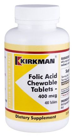 Folic Acid 400 mcg Chewable Tablets * Click on the image for additional details.