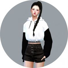 SIMS4 Marigold: New Crop Hoodie • Sims 4 Downloads