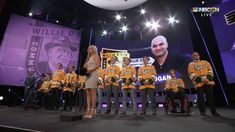 The Humboldt Broncos unite for the first time since tragedy struck their team, drawing loud cheers from NHL stars at the 2018 NHL Awards. Then NHL legend Wil. Nhl Awards, Broncos, Hockey, Pride, Youtube, Stage, Strength, Memories, Videos