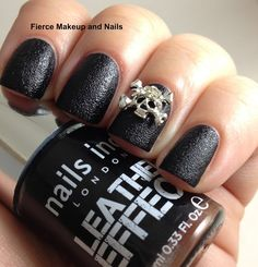 Fierce Makeup and Nails: Nails Inc. Leather Effect: Bling It on Rebel