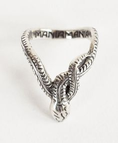 Silver Serpent Knuckle Ring