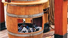 How to make a wine barrel cooler