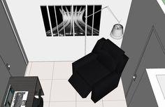 Cozinha/Área de Serviço - Apartamento Residencial de um Casal com Dois Filhos