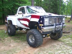 4x4 lifted chevy truck 'Merica! This truck is bad ass.